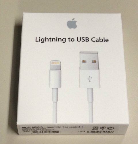 JUAL ORIGINAL Apple Lightning USB KABEL DATA iPhone 5, 5S, 5C, iPad 4. Rp 225.000